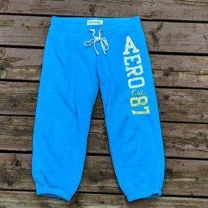3/$25 Aeropostale Blue Capri Jogger Sweatpants